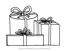 Christmas Presents Coloring Pages Page Present Gift Archives Best Online