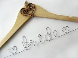 Personalized Rustic Bridal Hanger