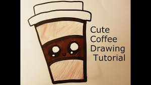 How To Draw A Cute Coffee Drawing Tutorial