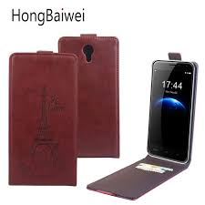 HongBaiwei for Homtom Pro Case Luxury Leather Printed Eiffel Tower Flip Card Slot Phone Case Cover for Homtom Pro