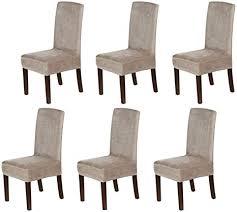 lingky samt esszimmer stuhlhussen stretch stuhlhussen für esszimmer parson stuhl schonbezüge stuhl schutzhüllen esszimmer soft thick solid velvet
