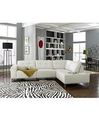 Alessia Leather Sectional Sofa by Alessia Leather Sectional Living Room Furniture Collection