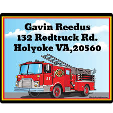 Fire Truck Personalized Address Labels - Return Address Labels ... Tonka Titans Fire Engine Big W Buy Truck Firefighter Party Supplies Pinata Kit In Cheap Birthday Cake Inspirational Elegant Baby 5alarm Flaming Pack For 16 Guests Straws Cupcake Toppers Online Fireman Ideas At A Box Hydrant 1 And 34 Gallon Drink Dispenser Canada Detail Feedback Questions About Car Fire Truck Balloons Decor Favors Pinterest Door Sign Decorations Fighter Party I Did December