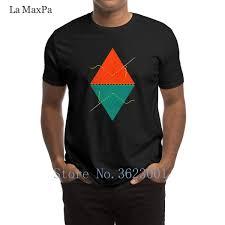 Cartas Creativas Camiseta Hombre La Pirámide Reflejada Triángulos Geométricos Camiseta Hombre Trendy Unisex Camiseta Nuevo Algodón 0