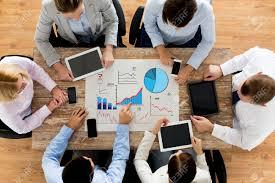 Negocios Personas Estadísticas Y Concepto De Trabajo En Equipo