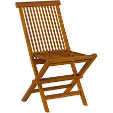 Details About BARE-DC1021 Vega Outdoor Folding Chair, Set Of 2, Teak Patio  Dining Chairs
