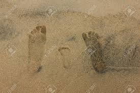 104 Small Footprint Family Close Up Shot Of S On Sandy Beach Fathers Mothers And Sons Foot Signs In The Wet Sand Of Lake Baikal Seashore Stock Photo Picture And Royalty Free Image Image 100902984