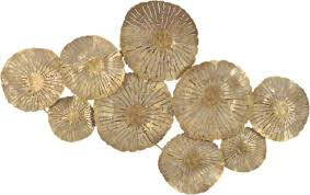Gold Metal Wall Art Prepossessing Large Circles Decor Contemporary Review