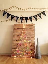 Hipster Christmas Tree Pallet X Mas Decor Chalk Banner Upcycled Navidad Arbol Reciclado
