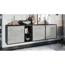sideboard genova in schwarz matt und beton oxid