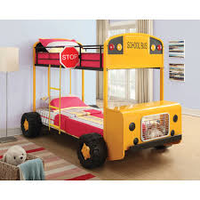 Wildon Home  School Bus Twin over Twin Bunk Bed & Reviews