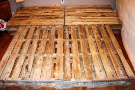 diy pallet bed attached night stands homemade food junkie