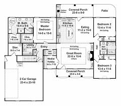 Photo Of Floor Plan For 2000 Sq Ft House Ideas by Southern Style House Plan 3 Beds 2 50 Baths 2000 Sq Ft Plan 21 218