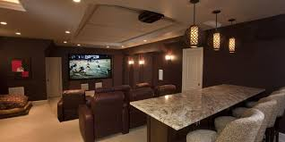 home theater lighting including pendants bar and wall sconces