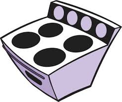 A Cartoon Drawing Of Stove