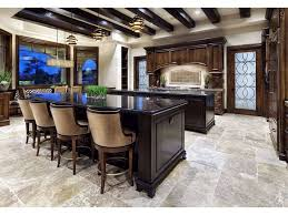 Kitchens With Dark Cabinets And Tile Floors