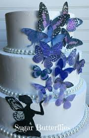 Edible Butterflies Lavender Purple With Or Without Fairy Cake Cupcake Topper