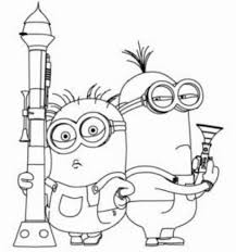 Minion Coloring Pages Despicable Me Minions