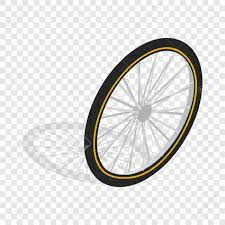 Bicycle Whee Isometric Icon 3d On A Transparent Background Vector Illustration Stock