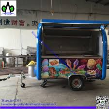 100 Crepe Food Truck China Factory Telescope Brand YJ FCT01 Mobile Crepe Food Cart Blue