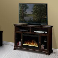 Dimplex Brookings Espresso Electric Fireplace Media Console With Tv Stand White Dining Table