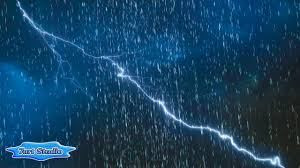 Rainy Lightning Storm Screensaver