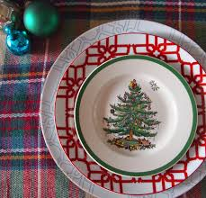 Spode Christmas Tree Platter by Little Black Door My Home 12 Days Of Christmas Tour Of Homes