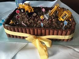 baustellen torte kinder kuchen geburtstag torte