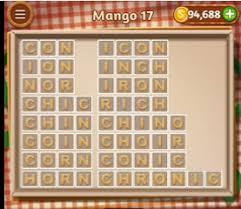Word Cookies Mango 17 level 17 Answers AnswersKey