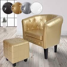 miadomodo chesterfield sessel mit hocker aus holz und kunstleder kupfernieten farbwahl loungesessel inkl sitzhocker clubsessel armsessel