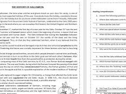 When And How Did Halloween by The History Of Halloween Reading Comprehension Worksheet