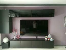 wohnwand wohnzimmer schrank ikea led hängeschrank tv rack