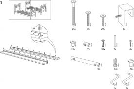 ikea lo bunk bed frame twin assembly instruction download