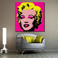100 Pop Art Home Decor JQHYART Marilyn Monroe Andy Warhol Figure Living Room Modern Wall Painting Picture Canvas Print No Frame