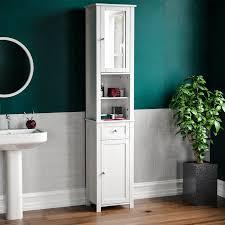 details zu badezimmer hochschrank schrank spiegel tür aufbewahrung regalablage fächer möbel