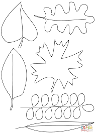 Fall Leaves Coloring Page Autumn Free Printable Pages Of Animals