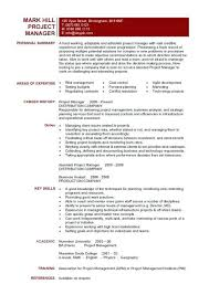 Construction Project Manager Resume Examples From Template Entry Level