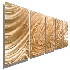 statements2000 light copper modern abstract metal wall