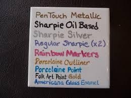 sharpies on ceramics part ii news della s