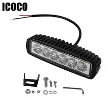 ICOCO 18W LED 12V Flood Work Light Auto Car Off Road Light Bar ... 75 36w Led Light Bar For Cars Truck Lights Marine High Quality 4 Led Car Emergency Beacon Hazard 50inch Straight Led Light Bar Mounting Brackets Question Jeep Cherokee Forum Inchs 18w Cree Light Bar Work Spot Lamp Offroad Boat Ute Car Double Side 108w Beacon Warning Strobe 6 Smd Work Reversing Red 15 11 Stop Turn Tail 3rd Brake Cheap Rooftop Better Than Stock Lights Toyota Fj 18 108w Cree 3w36 8600lm Off Road Atv