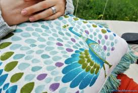 Pier One Blue Throw Pillows by Our Outdoor Oasis Party And Giveaway For A Pier 1 Imports Gift