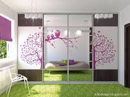 Cool Bedroom Ideas For Teenagers Art Wall Fantastic Modern Sliding Door Design