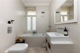 rustic small bathroom ideas with travertine mosaic tiles