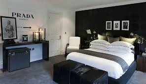 Exotic Young Man Bedroom Decorating Ideas That Can Be Decor With Grey Floor Warm Lighting Add The Beauty Inside White Door