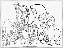 Coloring Pages Of Zoo Animals Kids