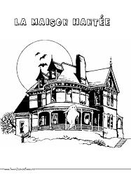 coloriages d une maison hantée a imprimer