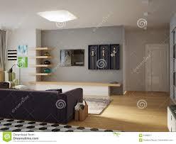 offenes wohnzimmer des modernen städtischen zeitgenössischen