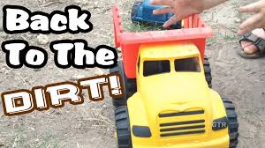 100 Earth Mover Truck Back To The Dirt Toy Dump Cement Mixer YouTube