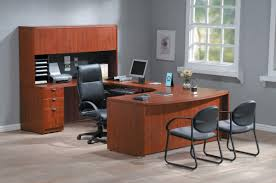 fice & Workspace fice Furniture Ideas Feature Wooden Receptionist Table L shape With Foamy