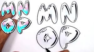 Graffiti Letters Alphabet Bubble Letters Alphabet M N O P MAT